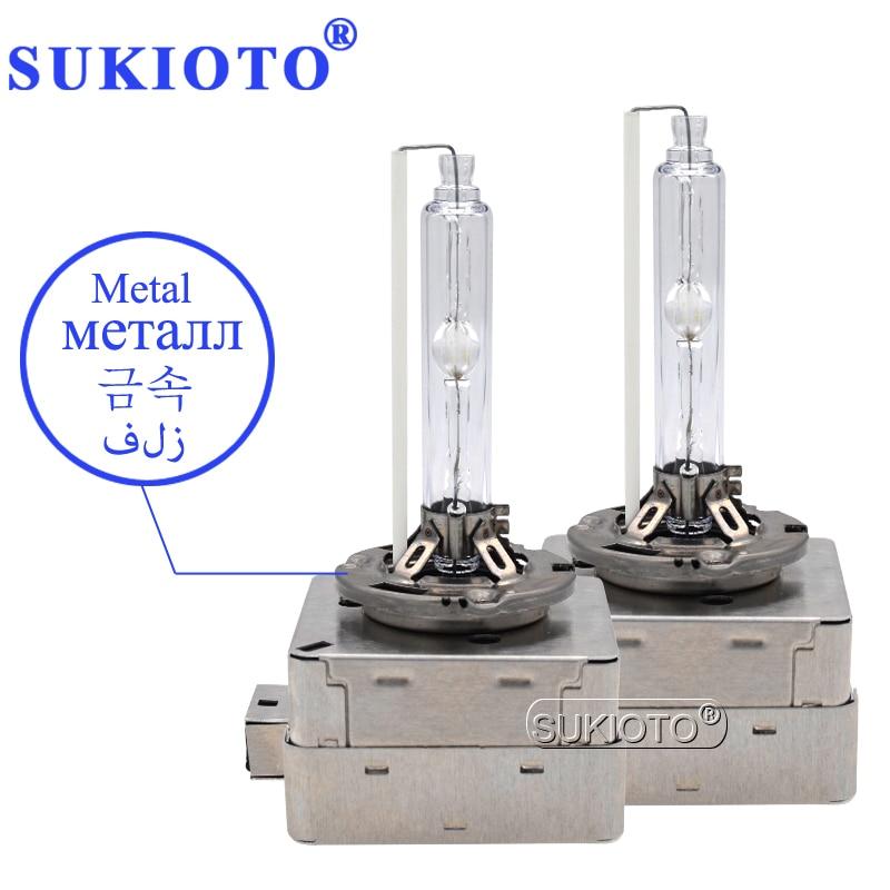 SUKIOTO Original 35W 55W Xenon D1S HID xenon bulb 4300K D3S Xenon Metal D4S D2S 6000K 8000K D1S 5000K 10000K HID Xenon Lights car light accessories amp d2s d2c d2r hid xenon cable adaptor socket for d2 d4 d4s d4r xenon hid headlight relay wiring harness