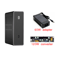 PC Gamer Cabinet Case HTPC Mini ITX Motherboard Desktop Computer Small Silent Gaming Cooling Chassis All aluminum Free shipping