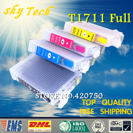 Full ink Refillable Cartridge suit for T1711 -T1714 T1715 series Suit for epson xp 103/33/203/207/303/306/403/406.with ARC chips t1711 refillable ink cartridge for epson expression home xp 103 xp 203 xp 207 xp 313 xp 413 printer ink with auto reset chip