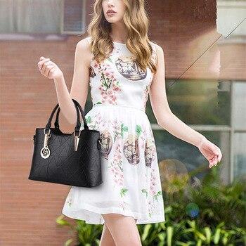 New Casual PU Women Handbag Pendant Fashion Office Lady Shoulder Bag Crossboday Zipper