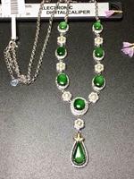 Fine Jewelry 18K White Gold Buddism Buddha 100% Natural Green Burmes Jade Gemstones Pendant Necklace Fine Pendants Necklaces