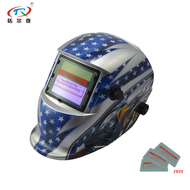 Dimming Automatic Welding Helmet Tig Mig Arc Electric Mask  Filter Easycap Welder Mascara Shield TRQ-HD74-2233DE
