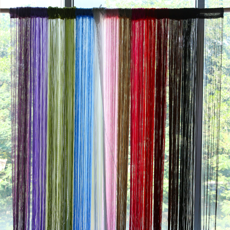 2x1m 12 Colors String Curtains Door Window Panel Curtain Divider Yarn Strip Tel Drape