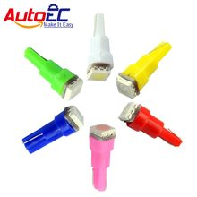 AutoEC 20x T5 1smd 5050 Car Dashboard Voiture Interior Light Acessorio Automovel DC12V Yellow White Red Blue Green Pink #LA04(China)