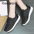 RECOISIN Marca 2017 Novas Mulheres Sapatos Casuais Moda Verão Das Mulheres Ao Ar Livre Sapatos Trainer Zapatillas Deportivas Mujer Sapatos Pretos