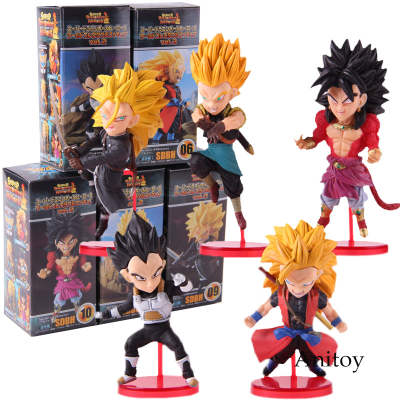 Super Dragon Ball Heroes World Collectible Figure vol.2 full set of 5 Japan
