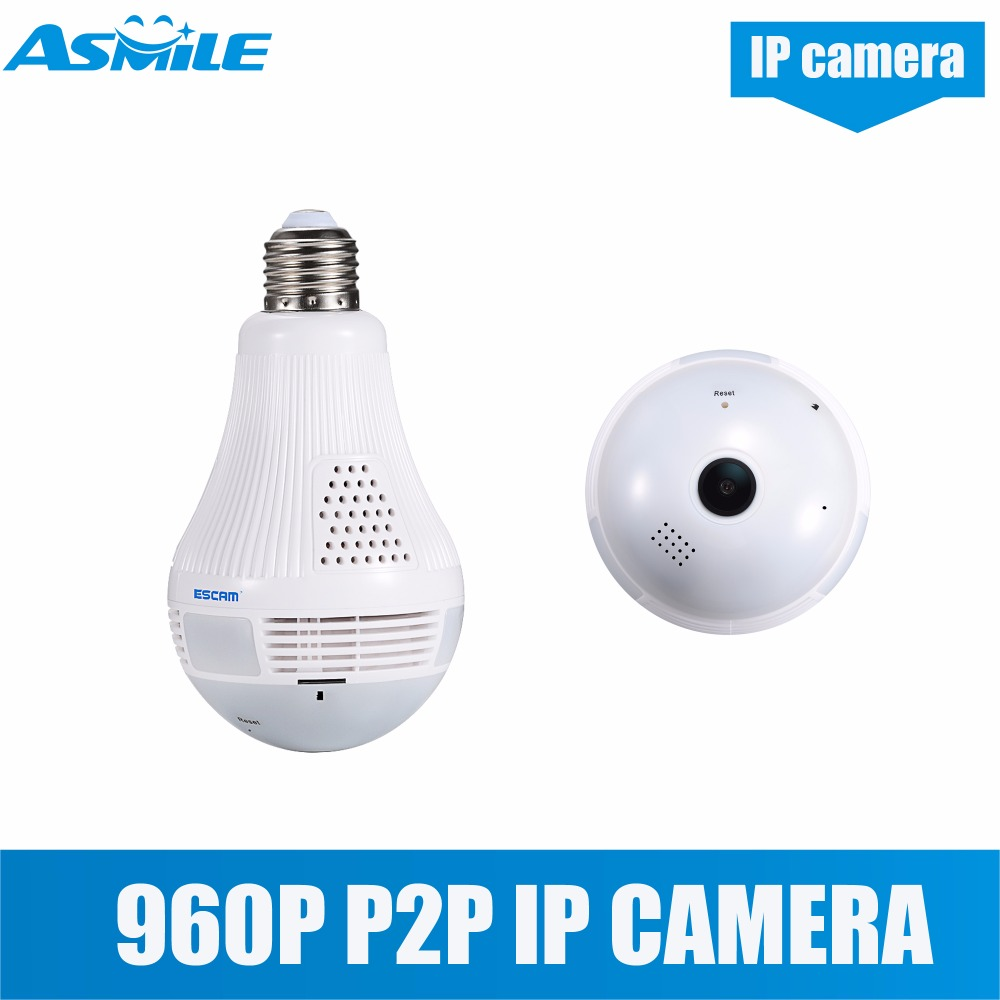 night vision 360 degree wifi ip camera external microphone light bulb camera from asmile