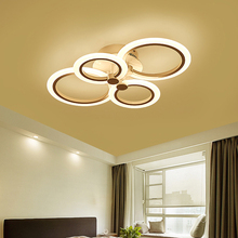 ФОТО vintage rustic contemporary modern led ceiling round square ring flower acrylic chandelier bedroom dining room hallway lighting