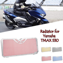 LJBKOALL Motorcycle Radiator Guard Grill Grille Cover Protector for Yamaha Tmax TMAX 530 XP530 2012 2013 2014 2015 2016 4 Colors