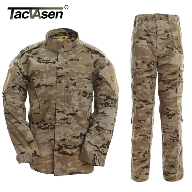 1b4d75b034a89 TACVASEN Spanish Desert Camouflage Clothes Tactical Military Combat Uniform  Men Jackets And Pants Men Hunt Clothing TD-WHFE-019