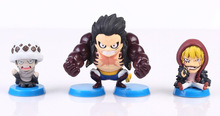 7pcs/set Anime One Piece Luffy Robin Corazon Doflamingo PVC Action Figure Resin Collection Model Kids Toy Doll Gifts Cosplay