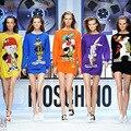 Бесплатная доставка Новая Мода 2017 Осень Зима Женщины Негабаритных Мультфильм Bugs Bunny Даффи Дак Длинные Пуловеры Свитера Платья