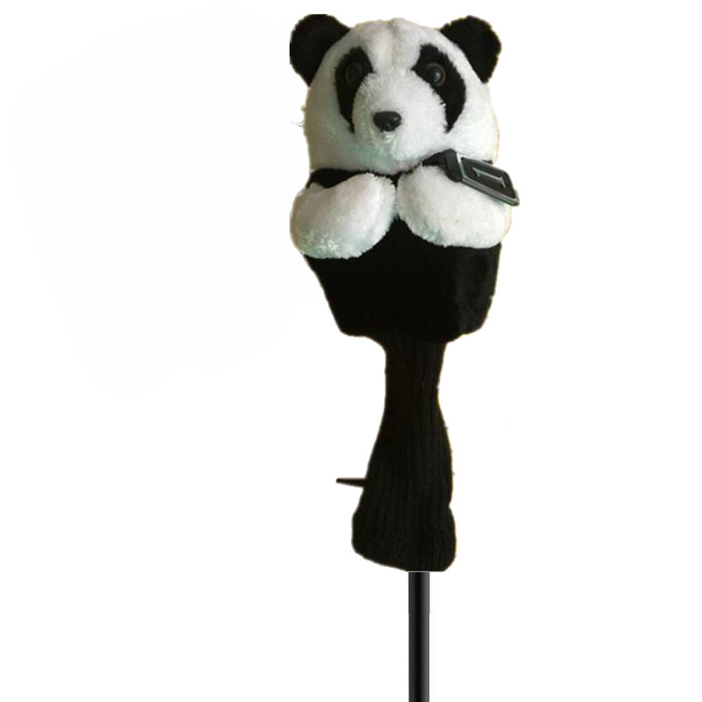 Golf Iron Putter Protective Head Cover Cute Spotted Panda Golf Club Headcover Set in Club Heads from Sports Entertainment