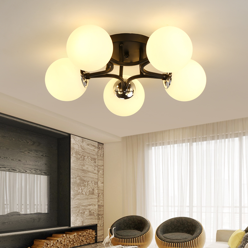The creative bedroom is equipped with an American living room lamp modern simple dining room led chandelier 2233 an american tragedy
