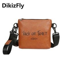 купить DikizFly Letter Fashion Women Handbag PU Leather Women Messenger Bags Shoulder Crossbody Bag Bolsa Female Purse sac a main femme по цене 707.32 рублей