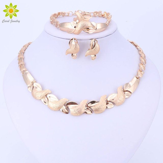 Jewelry Sets Women Costume Statement Necklace Bracelet Earring Ring Fashion Gold Color Romantic Classic Wedding Accessories  sc 1 st  AliExpress.com & Jewelry Sets Women Costume Statement Necklace Bracelet Earring Ring ...