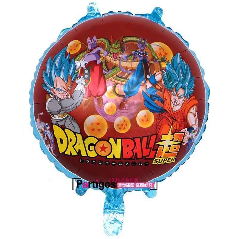 1 pçs/lote 78*45 centímetros Dragon Ball Z Son Goku Foil balões Da Festa De Aniversário Menino Super Bola Suprimentos Decoração Globos de Ar Presente das Crianças