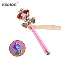 Sailor Moon Wand Magic Henshin Rod Musical Glow Heart Stick Sailor Moon Crystal Anime Figure Cosplay Toy For Girls Gifts