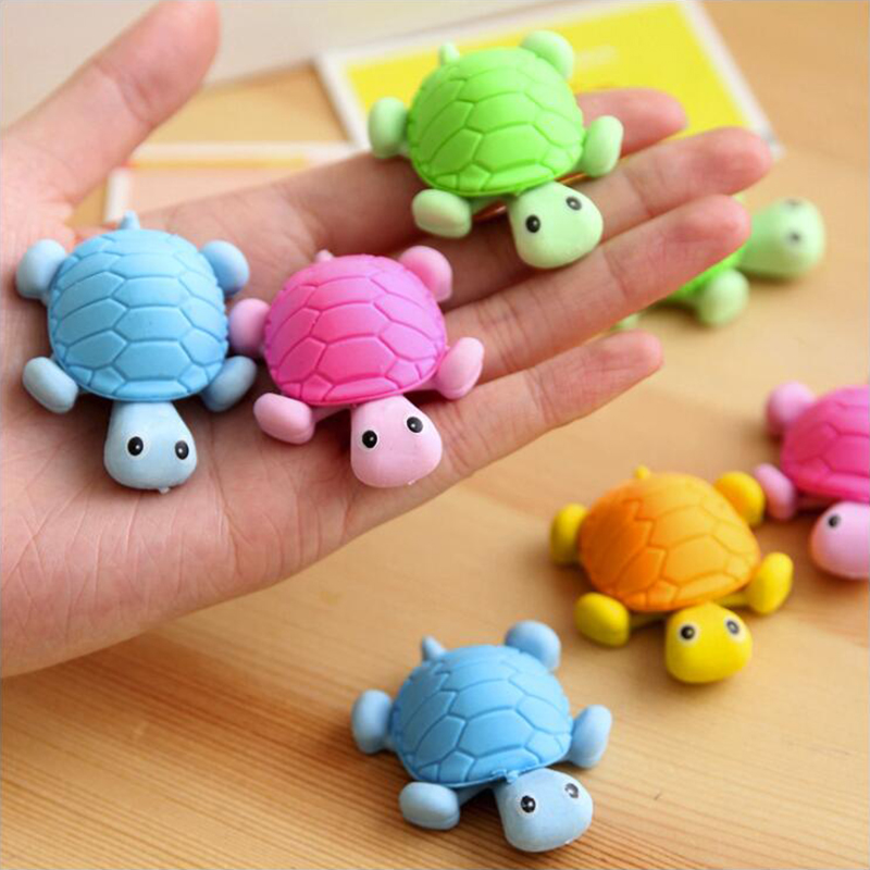 Colorful Cute Turtle Shape Eraser Office Stationery And School Supplies Eraser 1PCS/Lot