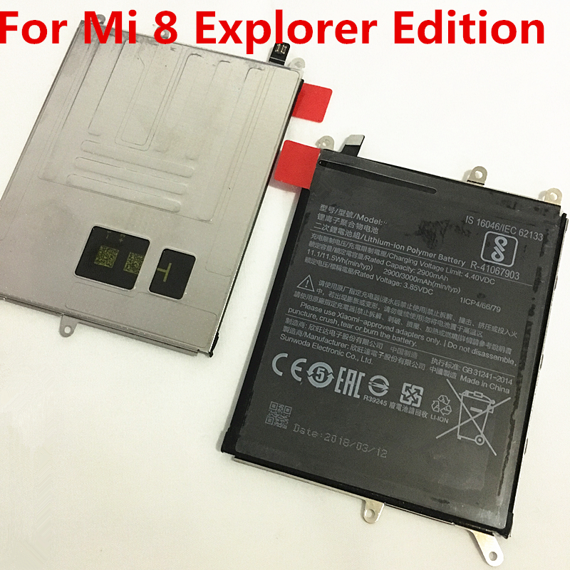 TMIOLOC Explorer-Edition Xiaomi Real-3000mah-Battery Original For Mi-8 New