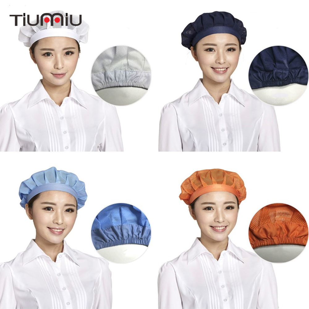 Elastic Mesh Caps Workshop Caps Food Service Kitchen Restaurant Hotel Bakery Chef Waiter Work Wear Hats Breathable Wholesale