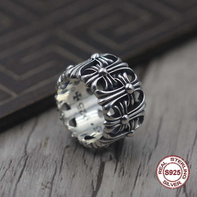 S925 pure silver men's ring Personality to restore ancient ways The ring for Forever Do old unique Couples exclusive Gift t0 you