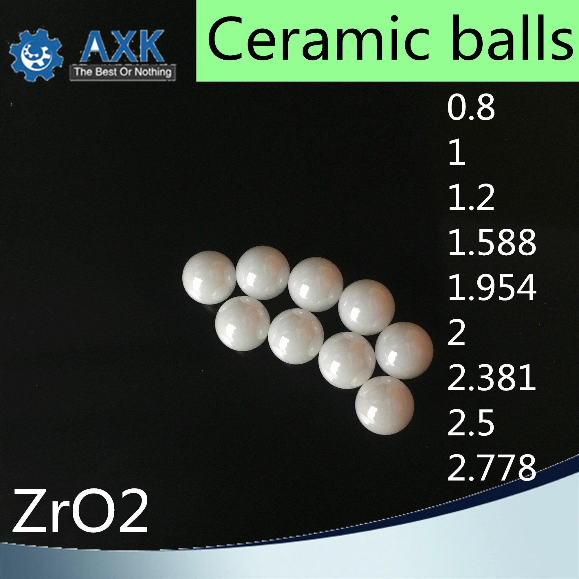 "0.0394/"" 1mm G5 ZrO2 Ceramic Loose Bearing Balls Zirconia Oxide 25 Pcs"
