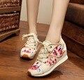 Мода Женская Обувь Китайский стиль FlatsCasual Обувь, вышитые Ткани обувь женщина крыла Бабочки холст вышивка