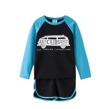 B-S178 Neue Mode Sommer 7-9 T Teenager Mädchen Badeanzüge Set Kurzarm T-shirt + Gummiband Hosen 2 stücke Bademode Outfit Anzug