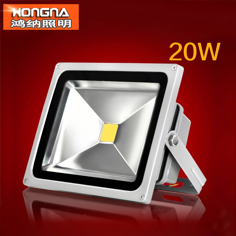 Free Shipping AC85-265V 20W LED Floodlight 100-110 lm/W Waterproof IP65 LED Floodlights with CE & RoHS Approval 2 Years Warranty