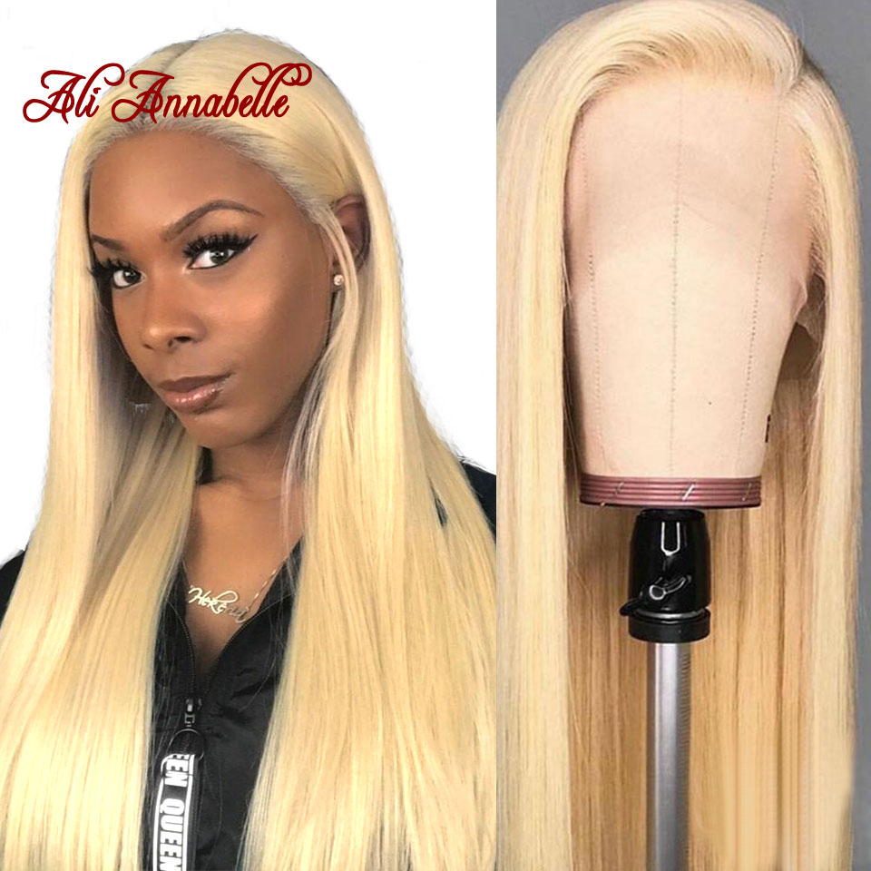 613 Lace Front Human Hair Wigs 13*6 Brazilian Straight Blonde Lace Front Human Hair Wigs Pre-Plucked With Baby Hair Lace Wig