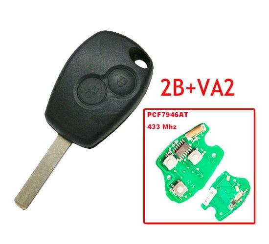 Darmowa wysyłka klucz zdalny z dwoma przyciskami z Pcf7946 Chip okrągły przycisk z VA2 ostrza dla Renault 5 sztuk/partia w Czujnik i detektor od Bezpieczeństwo i ochrona na AliExpress - 11.11_Double 11Singles' Day 1