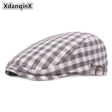 XdanqinX Adjustable Size Unisex Summer Breathable Lattice Cloth Berets For Men Women Ultra-thin Brand Cap Simple Dads Hat