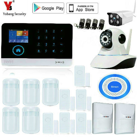Yobang Security WiFi Internet GSM GPRS SMS pet immune Home Alarm System Security Kit HD IP Camera GSM alarm system with French yobangsecurity wireless wifi gsm gprs rfid home security alarm system smart home automation system pet friendly immune detector