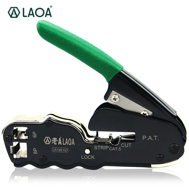 6 P / 8 P Jaringan Crimping Plier Networking Tools Portable Multifunctional Cable Wire Stripper Crimping Pliers Terminal Tool automatic cable wire stripper stripping crimper crimping plier cutter tool diagonal cutting pliers peeled pliers