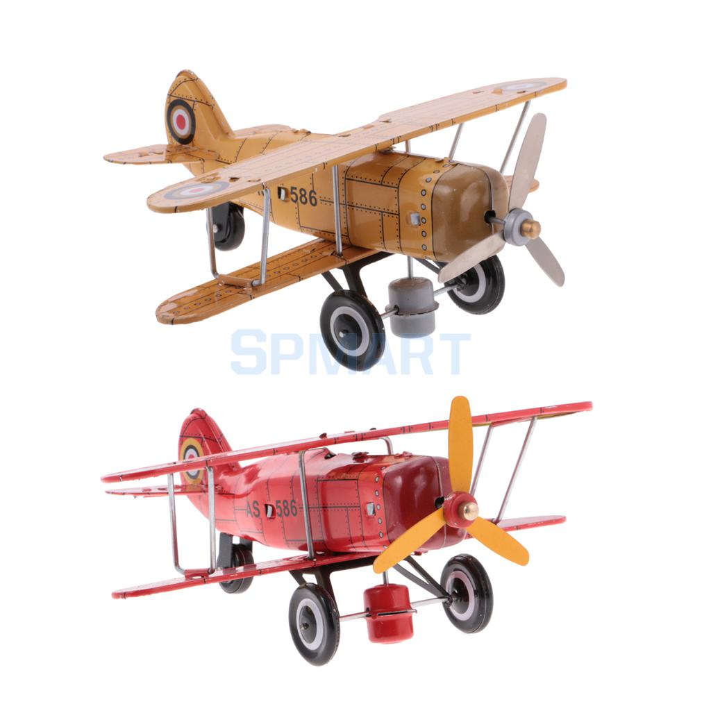 все цены на Vintage Plane Aircraft Model Clockwork Wind Up Tin Toy Collectible Gifts for Kids/Children/Adults