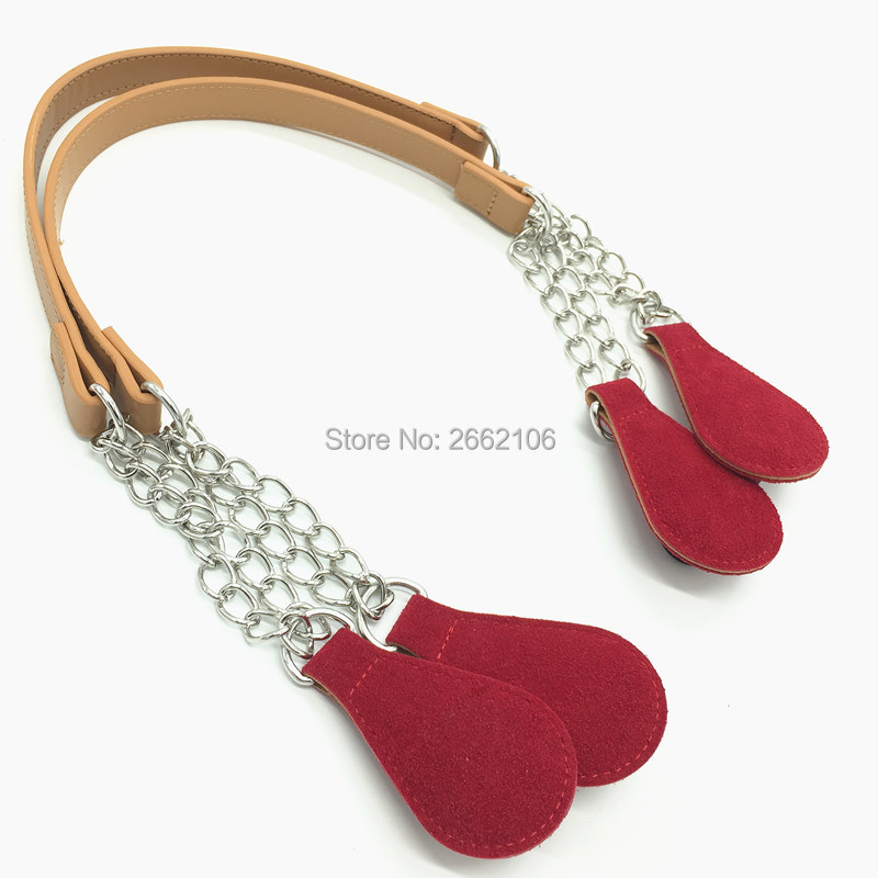 New 1 pair of handles Size 47cm 70cm For Obag Hand Women Handbag for O Bag Silicon Bag Accessories