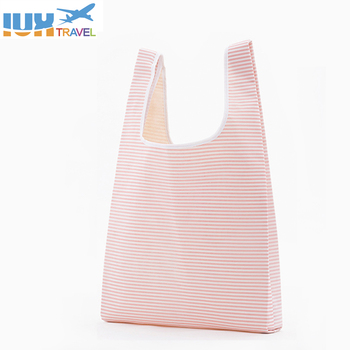 IUX Square Pocket Shopping Bag Candy 21 Colors Available Eco-friendly Reusable Folding Polyester Reusable Folding Shopping Bag