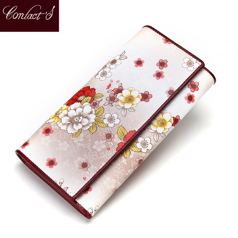 2017 New Women Wallets Genuine Leather Purses Long Female Wallet Ivory Women's Wallets Ladies Leather Wallet Phone Case Tri-Fold genuine cow leather women s wallet long style big capacity tri fold organizer wallets knitting women s purses jm 01289