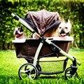 IBIYAYA роскошь коляска передач для средний большой собаки в течение 35 КГ Кошка Коляска/Собака Коляски двусторонняя открыть