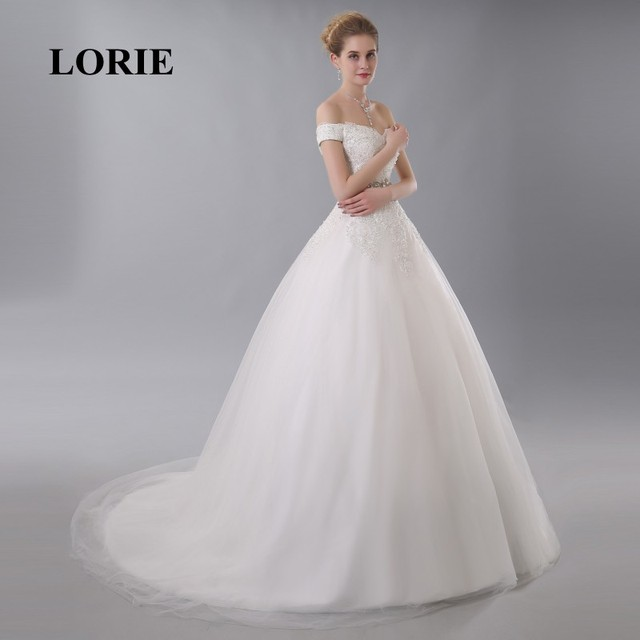 LORIE Off the Shoulder Wedding Dress Online China Appliques Beaded ...