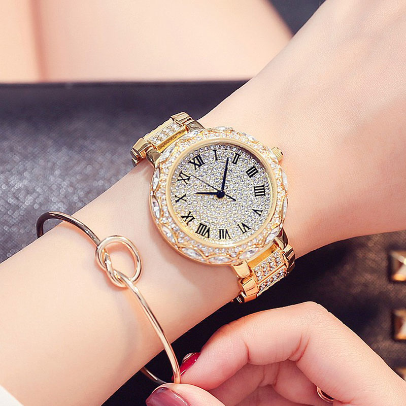 Mashali Brand Women Quartz Watch Stainless Steel Full Diamond Watches Shining Lady Dress Watch Wristwatches Lady Clocks gift casual women fashion watch lady dress wristwatches quartz clocks women leather strap watches relogio clasiic sport gift g031