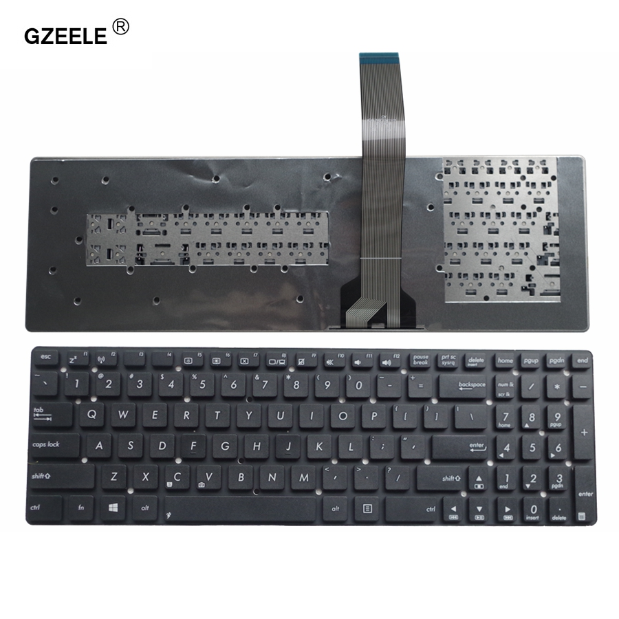 GZEELE New For ASUS K55A K55VD K55VJ K55VM K55VS A55V A55XI A55DE A55DR R700V A55VM A55VD A55VJ US English Laptop Keyboard