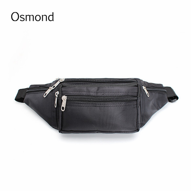 Osmond 2018 Men Waist Pack Small Nylon Leather Casual Belt