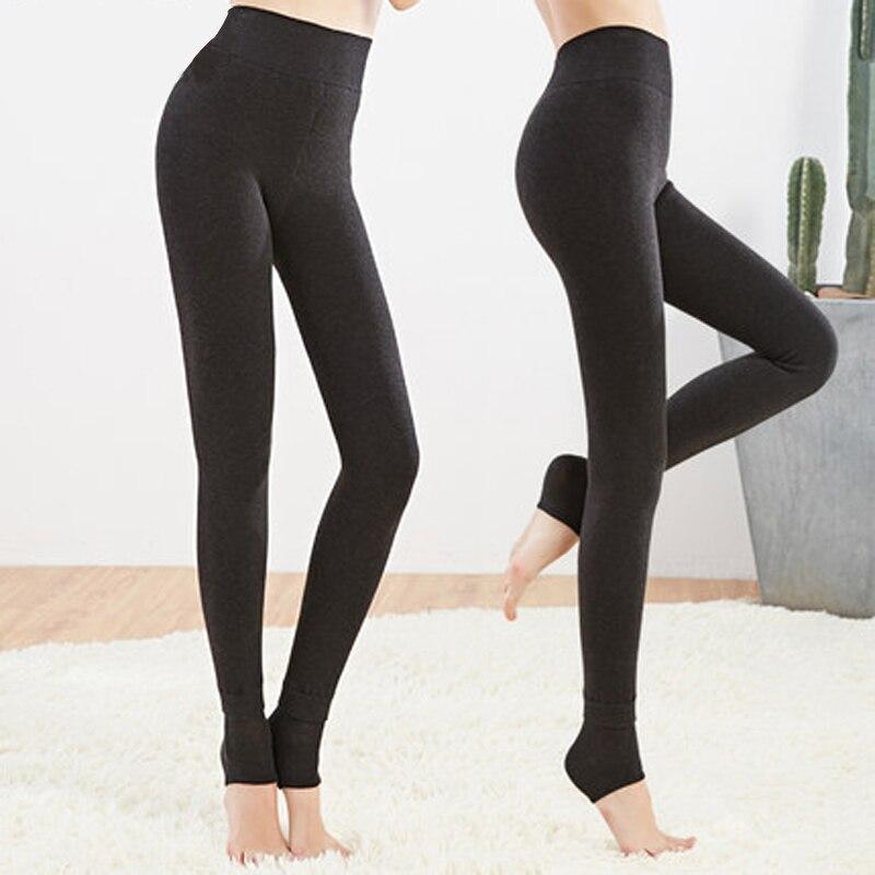 Women's Winter Plus Cashmere Leggings Fashion Big Size Warm Super Elastic Faux Velvet Winter Thick Slim Leggings 2