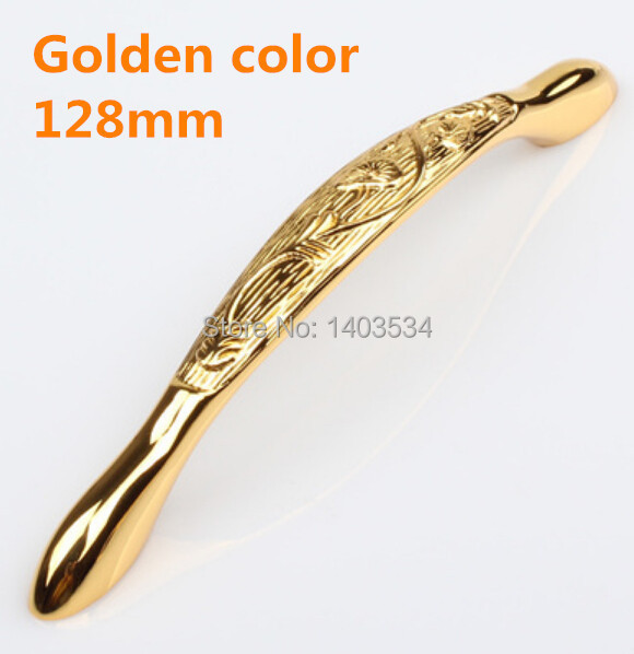 Length 160mm Hole Pitch 128mm Golden color Zinc Alloy Kitchen Furniture cabinet Handle antique bedroom drawer handle length 115mm hole pitch 96mm zinc alloy handle drawer handle antique furniture handle cabinet handle ivory white color