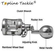 TopLine Tackle Max Drag 35kg  Jigging Fishing Reel Anti Corrosion 9BB+2RB Speed Ratio 4.9:1 Sea Bass Boat