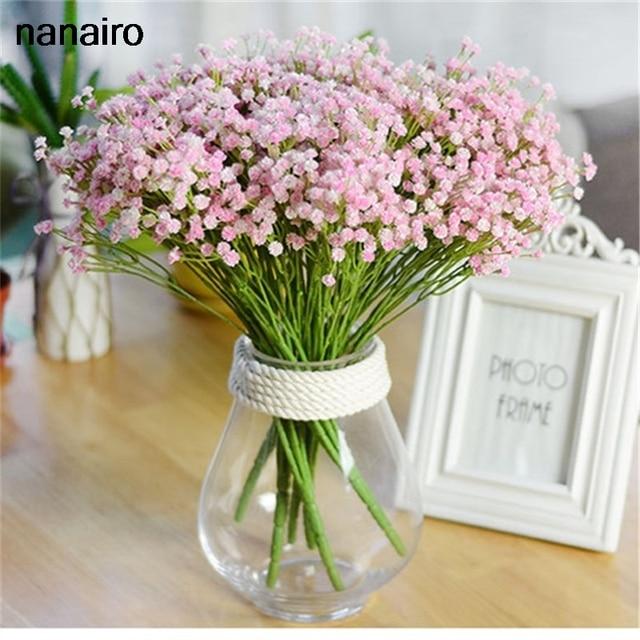 7 bifurcation/ Bouquet Babysbreath Silk Artificial Flower Decoration ...