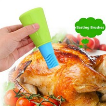 1 pc Grill Oil Bottle Brushes Silicone Liquid Oil Pen Cake Butter Bread Pastry Brush Baking BBQ Utensil Basting Brus