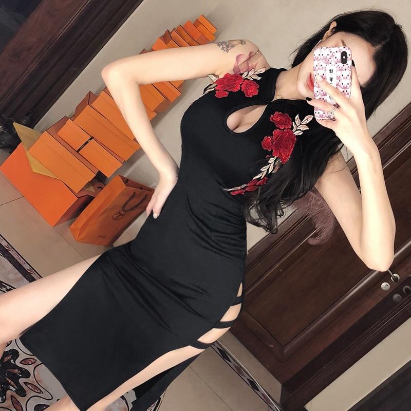 2020 Chinese Women Traditional Dress Silk Satin Cheongsam Sexy Qipao Flower Wedding Dress Vintage Qipao Dress Chinese Dress
